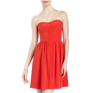 {Rebecca Taylor} Perfect Fit Silk Button Dress
